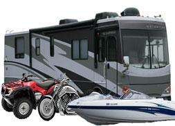 Boats, RV, campers, UTV, ATV, jet ski, motorcycle insurance